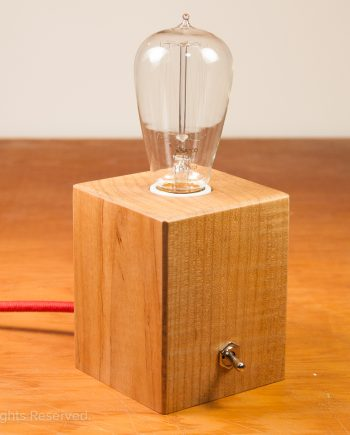 Wood Cube Lamp no 004