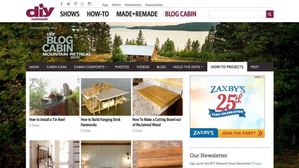DIY Network Blog Cabin How-tos