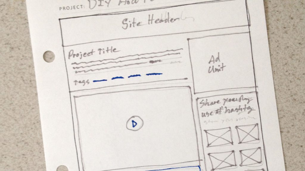 DIY Network How-to Sketch