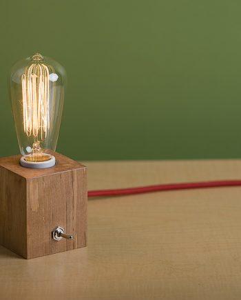 Wood Cube Lamp 001